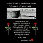 D-Day June 6th 1944 – In Memory Of Our Serviceman